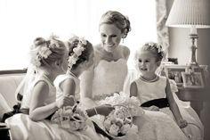 Bride and classic flower girls -- Brett Matthews Photography