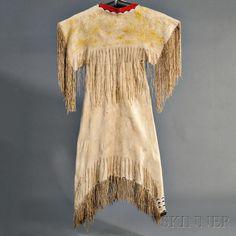 Платье, Южные Шайены. Период 1860-1870..А.