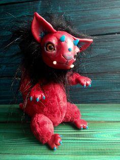 DRAGON TOY  Martian Lion Ooak Fantasy Creature Doll Art Dragon