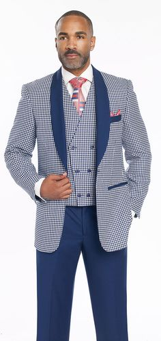 Blazer Solid Blue Shawl Lapel Flap Pockets. Vest Double Breasted Reversible Other Side Solid Blue. For example, if you order a 40R coat youll receive 34 waist. Trousers ready to be hemmed. | eBay!