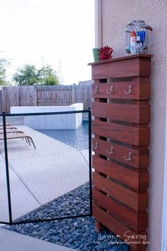 Backyard Pool Landscaping Diy Towel Rack New Ideas, Racks