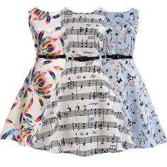 Price Drop $10.56, Buy Plus Size Belle Womens Summer Dresses 50s 60s Robe Vintage Retro Pin Up Swing Polka Rockabilly Flower print Dress