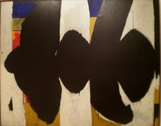 Robert Motherwell 1954 'Elegy to the Spanish Republic No. 34', Albright-Knox Art Gallery, Buffalo NY | Flickr - Photo Sharing!