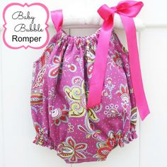 Baby Bubble Romper PDF Sewing Pattern NB-5T | Sewing Pattern | YouCanMakeThis.com