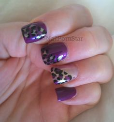 Purple Leopard Nail Art | NailPornStar