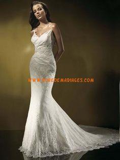 Robe de mariée dentelle sirène bretelle au cou dAvignon  Robe de ...