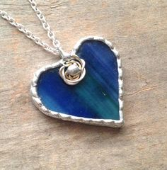 Blue green heart anniversary gifts for women blue green