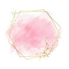 Luxury pastel pink golden frame Free Vec...   Free Vector #Freepik #freevector #frame #watercolor #gold #pink Flower Background Wallpaper, Flower Backgrounds, Watercolor Background, Logo Floral, Poster Background Design, Logo Background, Gold Abstract Wallpaper, Flower Graphic Design, Watercolor Logo