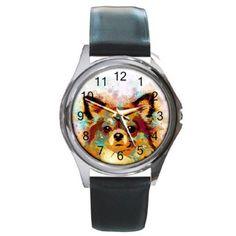 Metal Leather wrist watch Unisex Dog 141 Chihuahua digital art by L. Chihuahua Art, Dog Art, Watch Bands, Original Artwork, Digital Art, Unisex, Watches, Metal, Dogs