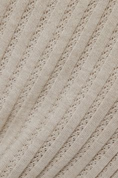 Gabriela Hearst - Nevin ribbed pointelle-knit cashmere and silk-blend tank Knitting Stitches, Knitting Yarn, Knitting Patterns, Gabriela Hearst, Summer Knitting, Knitted Fabric, Taupe, Knitwear, Cashmere