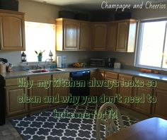 Why my kitchen always looks so clean and why you don't need to hate me for it!
