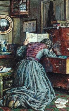 William Holman Hunt - The Lost Child ~ I know the grief she feels. It does not…