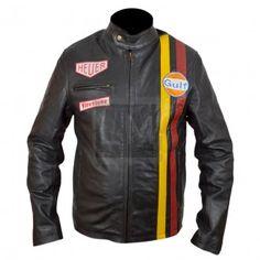 Le Mans Black Racing Leather Jacket