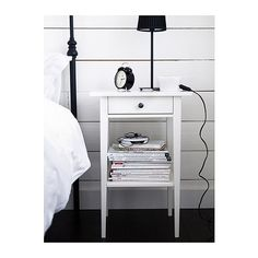 HEMNES Mesa de cabeceira - branco - IKEA