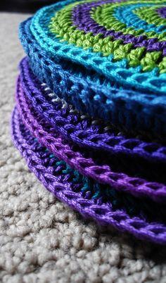 crochet potholders patterns free - Google Search