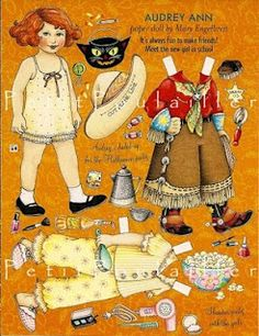 (⑅ ॣ•͈ᴗ•͈ ॣ)♡                                                             ✄Mary Engelbreit paper dolls