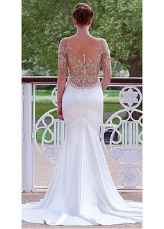 Elegant Tulle & Satin Sweetheart Neckline A-Line Wedding Dresses With Beaded Lace Appliques