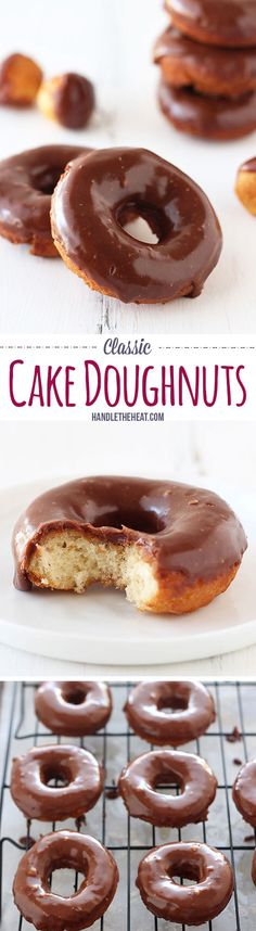 Classic Cake Doughnuts : handletheheat--- pp: This one is a KEEPER. SO GOOD everyone thought they were from a bakery! Delicious Donuts, Delicious Desserts, Yummy Food, Healthy Donuts, Baked Donuts, Doughnuts, Baked Donut Recipes, Köstliche Desserts, Dessert Recipes