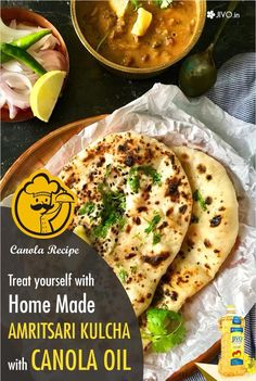 #CookingInCanola  Treat yourself with homemade Amritsari Kulcha with Canola Oil!