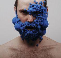 Blue - face - body art - Lucyandbart - Lucy McRae y Bart Hess, Grow On Lucy Mcrae, Bart Hess, Body Adornment, Weird Art, Body Modifications, Art Plastique, Wearable Art, Fascinator, Creations