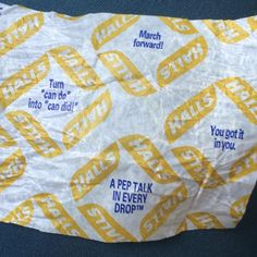 On my way to rehearse with the NY Pops for Carnegie tomorrow! My Halls Vitamin C wrapper is giving me a pep talk! #yougotitinyou #marchforward #candointocandid