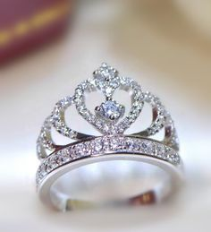 bling sweetheart crown promise ring in sterling silver http://www.jewelsin.com/p-invincible-glittering-tiara-silver-fake-diamond-crown-engagement-ring-for-women-1400