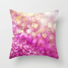 SALE Christmas Pillow Cover - throw pillow cover pink white yellow gold abstract glitz living room bedroom winter home decor gift idea unde on Etsy, $34.20