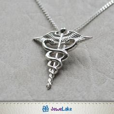 gifts Caduceus Necklace-Gift for Doctor-Nurse Jewellery-Caduceus Jewellery-Medical Jewellery-Medical Gift-Gift for Nurse-Gift for Student Homemade Jewelry Cleaner, Nurse Jewelry, Jewelry Gifts, Sterling Silver Chains, Sterling Silver Pendants, Wooden Jewelry, Resin Jewelry, Gold Jewelry, Necklaces
