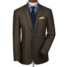 Brown Scottish tweed Slim fit jacket