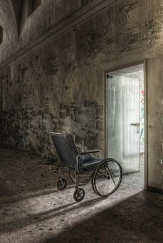 I see this as an image of abandonment of infirmities and debilitations, and a step towards freedom and light----Abandoned - by linfirefly