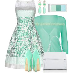 """""""50's Inspired Dress & Pumps"""" by casuality on Polyvore"""