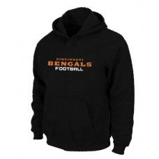 Wholesale Men Cincinnati Bengals Authentic Font Pullover Hoodie - Black_Cincinnati Bengals Pullover Hoodie