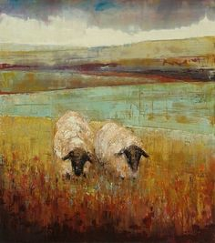 ♞ Artful Animals ♞ bird, dog, cat, fish, bunny and animal paintings - Rebecca Kinkead Sheep Paintings, Animal Paintings, Art Maori, Sheep Art, Cow Art, You Draw, Painting Inspiration, Painting & Drawing, Landscape Paintings