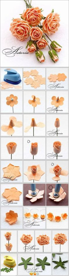 Hello! Happy Monday!! :) Here is theInspirational Monday on diy flower series - DIY Flower from Punch from small flower to full bloom.This week is about making DIY Flower from punch paperhere! ...