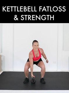 Kettlebell Workout Video, Leg And Glute Workout, Full Body Hiit Workout, Kettlebell Training, Tabata Workouts, Strength Workout, Workout Videos, Kettlebell Workouts For Women, Kettlebell Routines