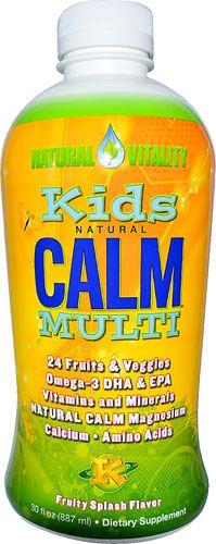 Natural Vitality Kid's Natural Calm® Multi Fruity Splash -- 30 fl oz - Vitacost