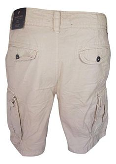 """Men's Khaki Classic Fit Cargo Shorts with 10"""" Inseam (33) - Brought to you by Avarsha.com"""