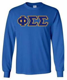 Phi Sigma Sigma $25 Lettered Long Sleeve Tee-Quick Ship SALE $25.00. Ready to ship and great for holiday gifting!