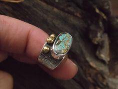 Turquoise ring.turquoise.gemstone.blue by CopurogluJewelry on Etsy