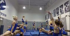 BYU gymnastics reacts to going viral with 'mannequin challenge' - The Daily Universe Byu Sports, Gymnastics Team, Viral Trend, Victorias Secret Models, You Fitness, Athlete, Challenges, Yoga, Workout