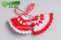 knitted Baba Marta, Martie, March 1st, Happy Spring, Bulgaria, Projects To Try, Joy, Christmas Ornaments, Tags