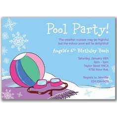 Swim Party Invite Cute Idea With Goggles A Swim Cap Invite