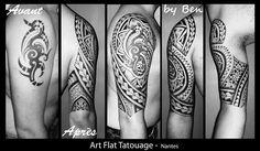 Tattoo samoan géométrique polynésien