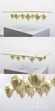 6 gold balloon coffee table