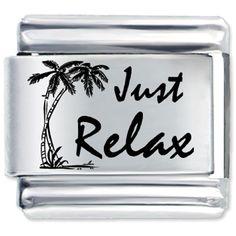 Tropical Just Relax Italian Charm Bracelet Bracelet Link Laser Italian Charm Pugster.com