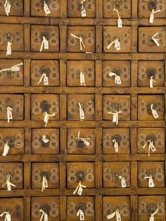 size: Photographic Print: Drawers Containing Fortune Sticks at Classical Chinese Garden by Richard Cummins : Artists Vintage Furniture Design, Handmade Furniture, Chinese Garden, Chinese Art, Green Building, Frame Shop, Herbal Medicine, Jewelry Organization, Framed Artwork