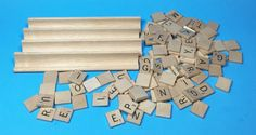 98 Scrabble Letter Tiles Replacements Crafts Hobbies Wooden & Tile Stands Create #Unbranded
