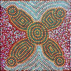 Warlukurlangu Artists - Tina Napangardi Martin Robertson - Ngapa Jukurrpa (Water Dreaming) - Puyurru - 696/11ny