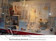 "a white Shabby-dream by LISA LIBELLE. Bookstore ROMBACH in Germany (Freiburg i. B.) Books LISA LIBELLE ""Wohnträume IN WEISS"" & ""Zauberhafte Jahreszeiten"""