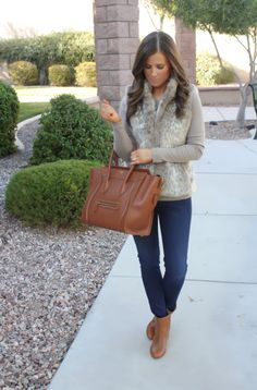 Banana republic vest and GAP tee... effortlessly gorgeous